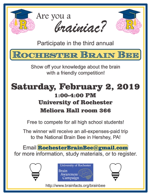 2019 brain bee flyer